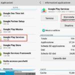Aggiorna Google Play Services manualmente